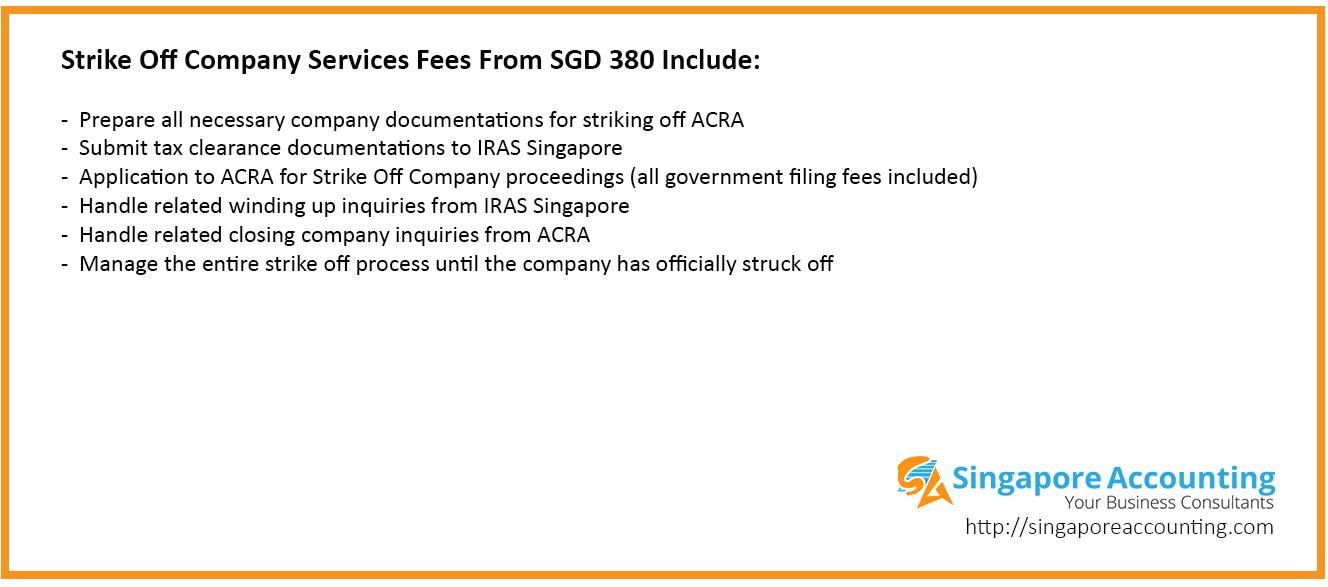 Strike Off Company Price List