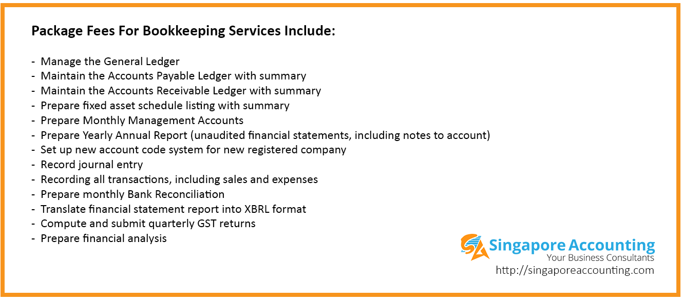 Bookkeeping Services Fees Singapore
